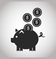 piggy coins money safety banking pictogram image vector image