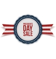 Presidents Day Sale discount Label with Ribbon vector image