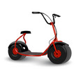 realistic electric kick scooter two wheel vector image vector image