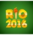 rio 2016 design vector image vector image