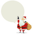 santa delivery - speech bubble message vector image