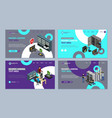 server hardware landing web page template set vector image