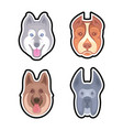 set dogs for vector image