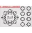 Set of 8 Hand Drawn Decorative Frames vector image vector image