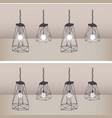 set of modern ceiling lights with black metal vector image vector image