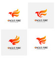 set of phoenix fire bird logo design concepts vector image