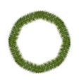 silhouette circular of Christmas pine wreath vector image