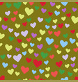 simple heart sharp seamless pattern color vector image vector image