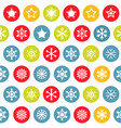 snow pattern on white background vector image vector image