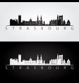 strasbourg skyline and landmarks silhouette vector image vector image