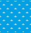 street burger pattern seamless blue vector image