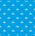 street burger pattern seamless blue vector image vector image