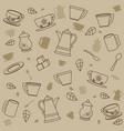 tea patterns background vector image