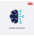 two color business intelligence icon from vector image vector image