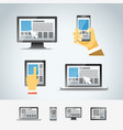 Using modern digital devices vector image