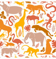 wild africa safari animal icon seamless pattern vector image