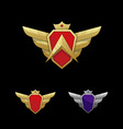 wing emblem template vector image vector image