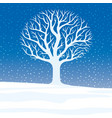 winter landscape with beautiful tree vector image