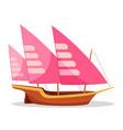 xebec boat cartoon vector image