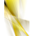 yellow smooth stripes abstract background vector image