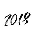 2018 happy new year beautiful greeting card vector image