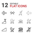12 go icons vector image vector image