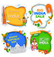 26th january happy republic day of india sale vector image vector image