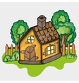 a cartoon house vector image