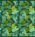 abstract jungle print with silhouettes of vector image
