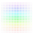 bacteria icon halftone spectral effect vector image