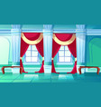 ballroom or royal palace hall vector image vector image