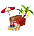 beach summer travel object vector image vector image
