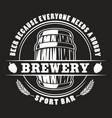 beer barrel badge vector image vector image
