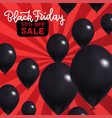 black friday sale banner realistic with vector image vector image