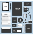 Black set of corporate identity templates vector image vector image