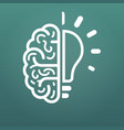 brain and lightbulb big idea icon isolated on vector image