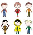 cartoon kids vector image
