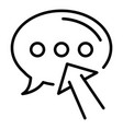 chat bubble blog icon outline style vector image