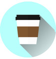 coffee cup icon flat design vector image