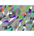 Color abstract low-poly polygonal triangular vector image vector image