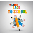 Colorful Back to school theme vector image vector image