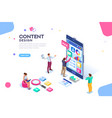 content design for mobile interface vector image vector image