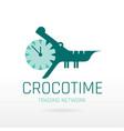 crocodile alligator animal icon text lettering vector image