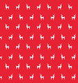 deer animal decoration backgropund pattern vector image