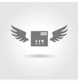delivery box logo vector image vector image