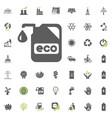 eco icon eco and alternative energy icon vector image
