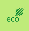 eco leaves logo icon design template elements vector image