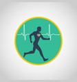 exercise stress test logo icon design vector image vector image