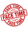 face time red grunge stamp vector image vector image