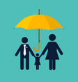 family protection insurance concept vector image